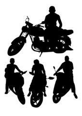 Motorcycle Silhouettes Set