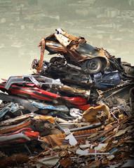 Stadt versinkt im Müll
