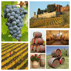wine tradition collage, Chianti,Tuscany