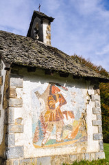 Chapel of Virgen de las Nieves, Irati forest, Spain