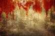 Blood on stucco wall