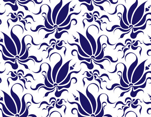 Vector seamless floral pattern. d