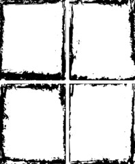 Set of four frames in grunge style