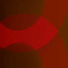 Abstract red background with round lines