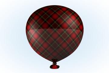 Red Plaid Balloon