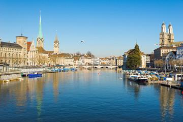 Fraumünster und Grossünster in Zürich