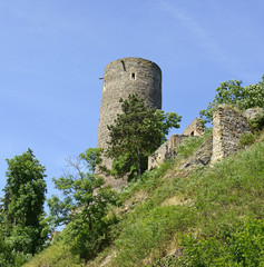 Medieval castle ruins Zebrak, Czech Republic