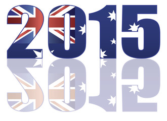 2015 Australia Flag in Numerals Vector Illustration