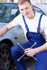 Repairman at work portrait