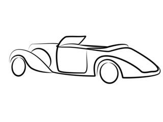 Vintage Oldtimer Cabrio Tribal