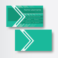 Clean flat business card template