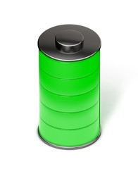 Full green battery isometric