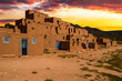 Adobe Houses in the Pueblo of Taos, New Mexico, USA. - 68300975