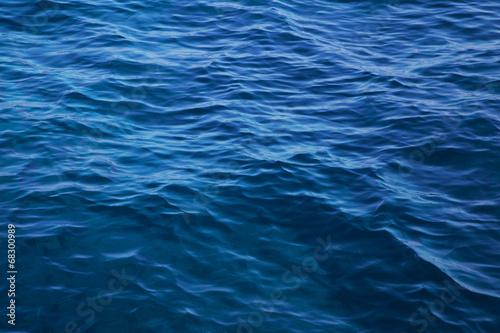 canvas print picture Tiefe blaue See als maritimer Hintergrund