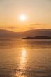 canvas print picture - Sonnenaufgang am Meer als Hintergrund