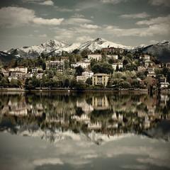 Verbania town on the Lake Maggiore