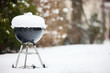 Leinwanddruck Bild - Barbeque grill covered with snow
