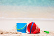 canvas print picture - Beach toys