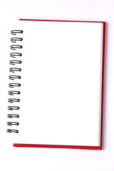 blank background. paper spiral notebooks isolated