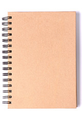 recycle notebook on white background