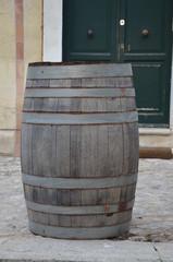 Holzfass in Sassi di Matera