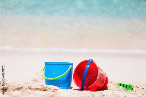 canvas print picture Beach toys