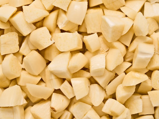 chopped uncooked raw garlic food background