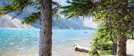 canoeing Morain Lake Canada