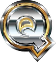 Fancy font Letter Q