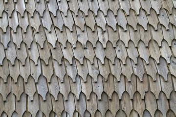 Holzwand aus Schindeln