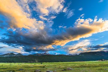 Beautiful Sunset in Moraine Park Colorado Rockies