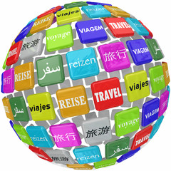 Travel Word Translation Different Global Languages Culture World