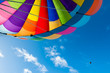 Colorful Hot Air Balloon Flying in the Blue Sky - 68304325