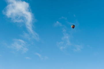 Flying in a Hot Air Balloon in Winter