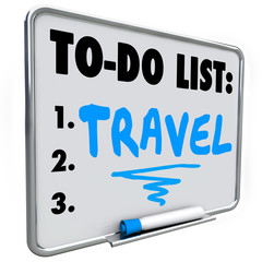 Travel To Do List Dream Vacation Wish Priorities Word