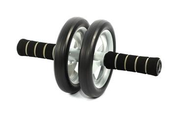exercise wheel isolated on white background