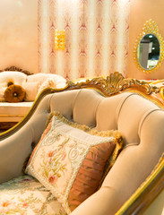 Luxury chair in fashion interior