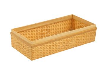 Bamboo box on white background