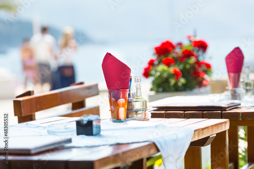 Sea view terrace of the luxury hotel - 68305532