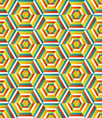 Seamless hexagonal pattern