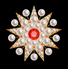 Brooch star