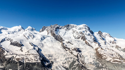 Mountain Range Landscape at Matterhorn, Switzerland