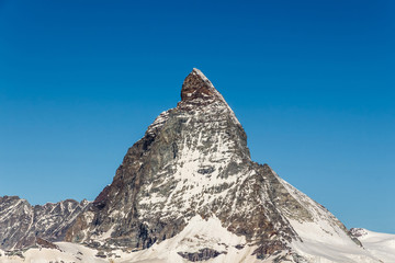 Beautiful landscape mountains in Matterhorn, Zermatt, Switzerlan