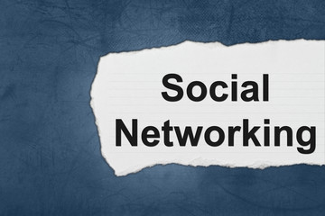 social networking with white paper tears