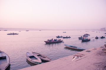 Boats on The Ganges / Varanasi / India