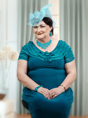 Middle aged woman starting a millinery business