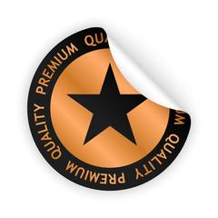 vector premium quality bent sticker