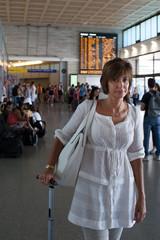 Donna in partenza
