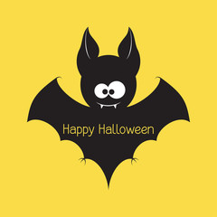 Funny Halloween vampire bat
