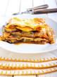 Vegetable lasagna bake
